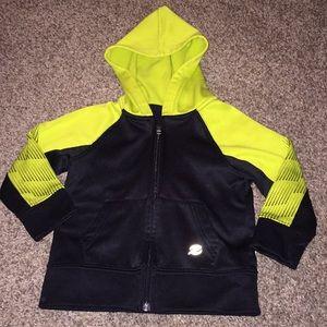 Energy Zone Black Yellow Long Sleeve ZipUp Sweater